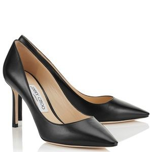 Jimmy Choo Classic Black Leather Pumps